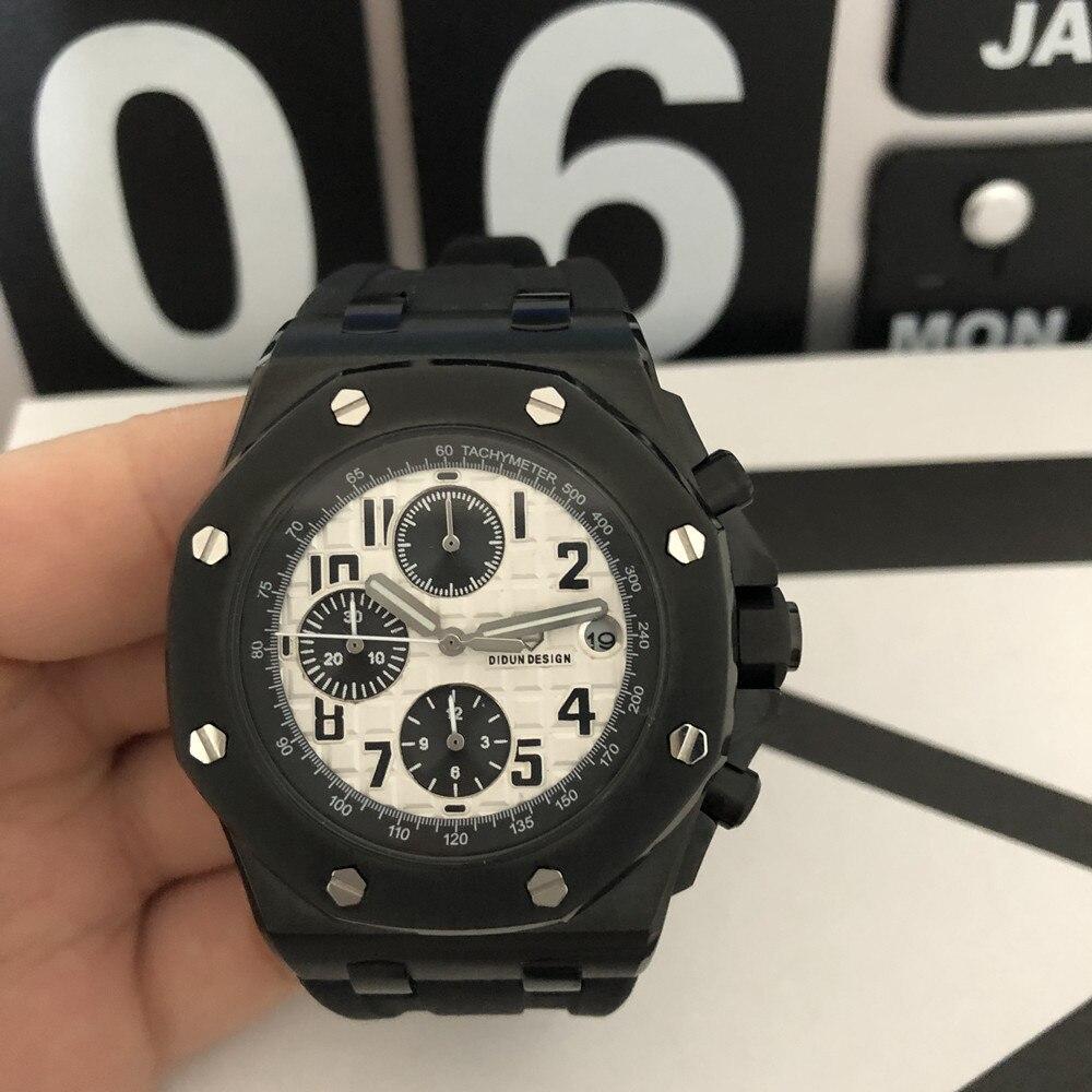 DIDUN Watch men Luxury Brand Men Steel Quartz sport Watches Men Military Sports WristWatch 30m Waterproof Clock Men Luminous-in Quartz Watches from Watches    3