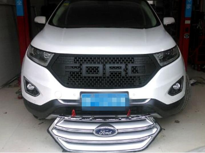 Abs F Style Racing Car Front Grill Grille For Ford New Edge   No Drilling Needed Replacing The Original One On Aliexpress Com Alibaba Group