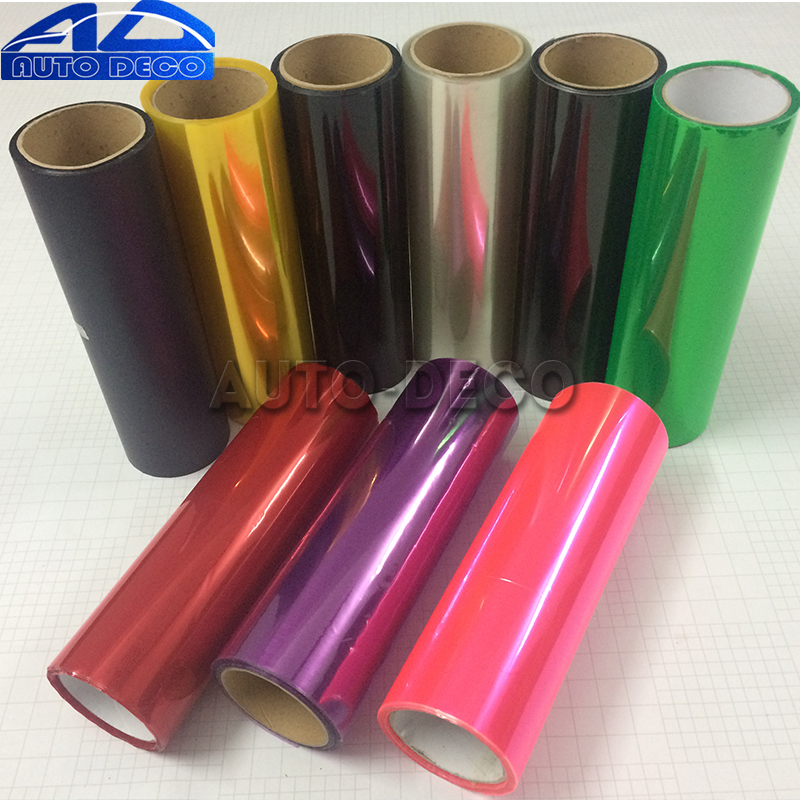 Image 4 - 13 Colors Car Headlight Taillight Fog Light Film Gloss Car Light wrap Headlight Film Sheet  30*200cm-in Car Stickers from Automobiles & Motorcycles