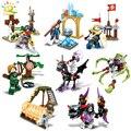Knight Devil mini action figures building blocks Ghost Tribes series Skeleton Magician Shooter war enlighten bricks Children toy