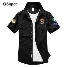 Militare aeronautica ввс пилот самолет грудь военный логотип вышивка коротким рубашка