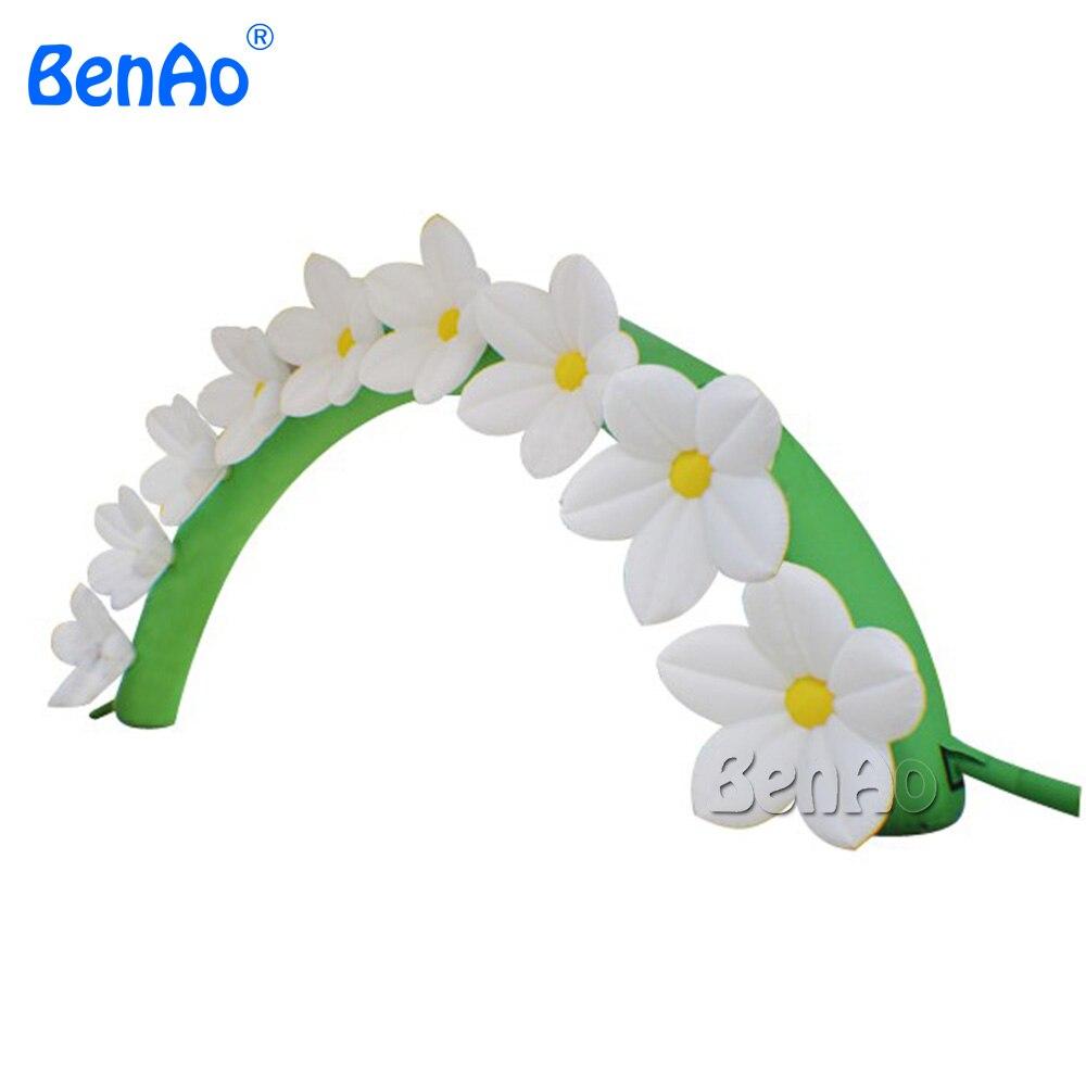 R187 BENAO Бесплатная доставка + Воздуходувка 6 м Заводская цена хорошая Свадебная Цветочная АРКА, дешевая Цветочная надувная АРКА для свадеб
