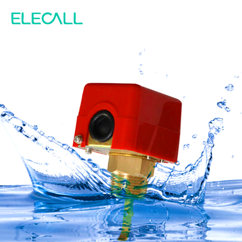 ELECALL 1 220VAC 3A Water/Paddle Flow Sensors Male Thread Flow Paddle Water Pump Flow Switch HFS-25 High Quality 1 2 pt male thread 90w power electric pressure flow switch for water pump