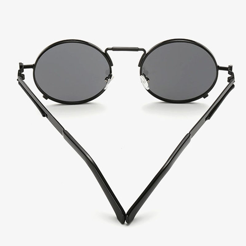 Vintage Round Sunglasses Men Retro Steampunk Sunglasses Coating Mirror Round Circle Lens Sunglasses Special Legs Glasses RREBtk2fz