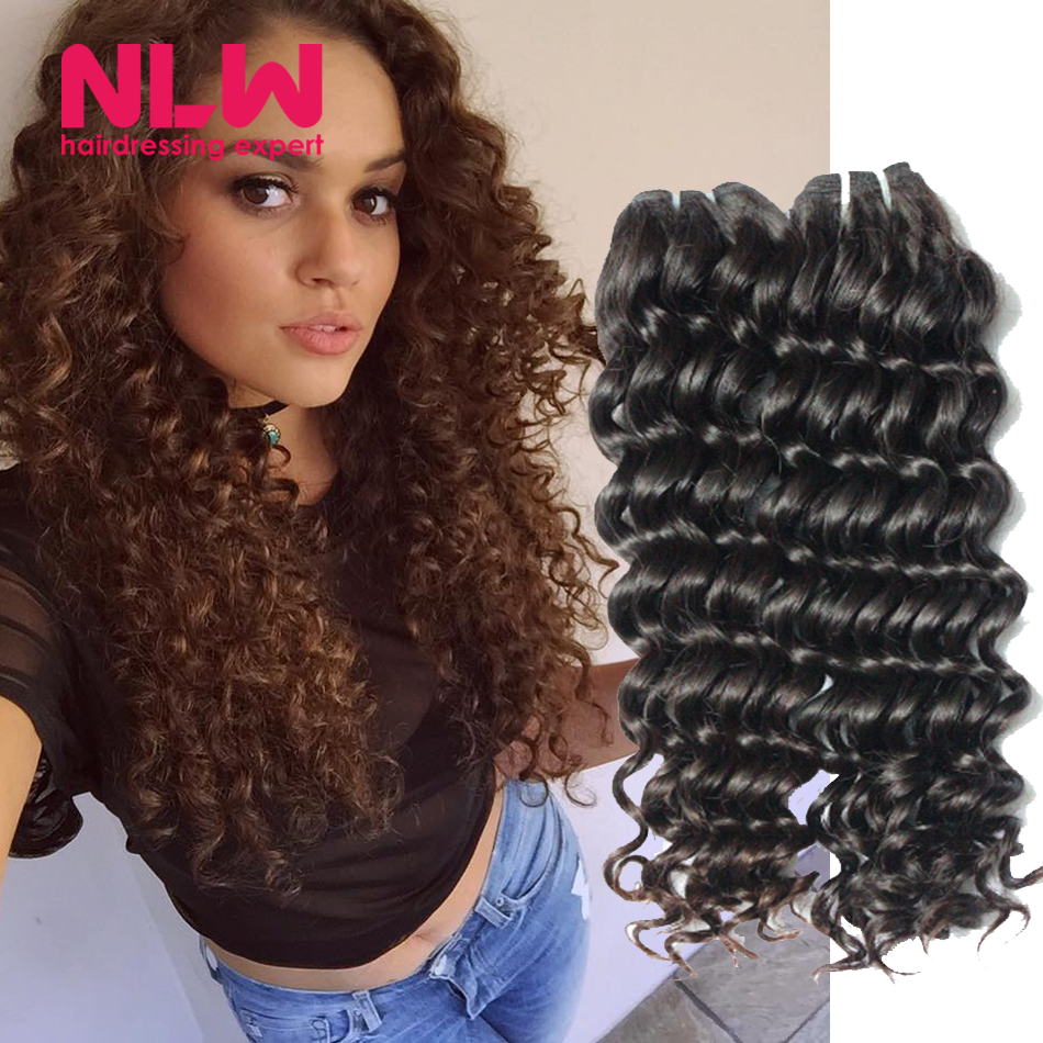 Black Women Cheap Brazilian Curly Weave Real Human Virgin Hair 3 Bundles  Deep Wave Hair Weaving Free Shipping Wet and Wavy Full on Aliexpress.com  0831e24a1