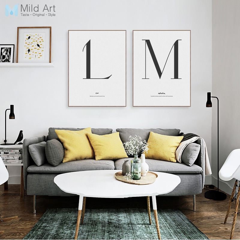 Minimalist Black White Letter Quotes Typography Posters Prints Nordic Living Room Wall Art Pictures Home Decor Canvas Paintings
