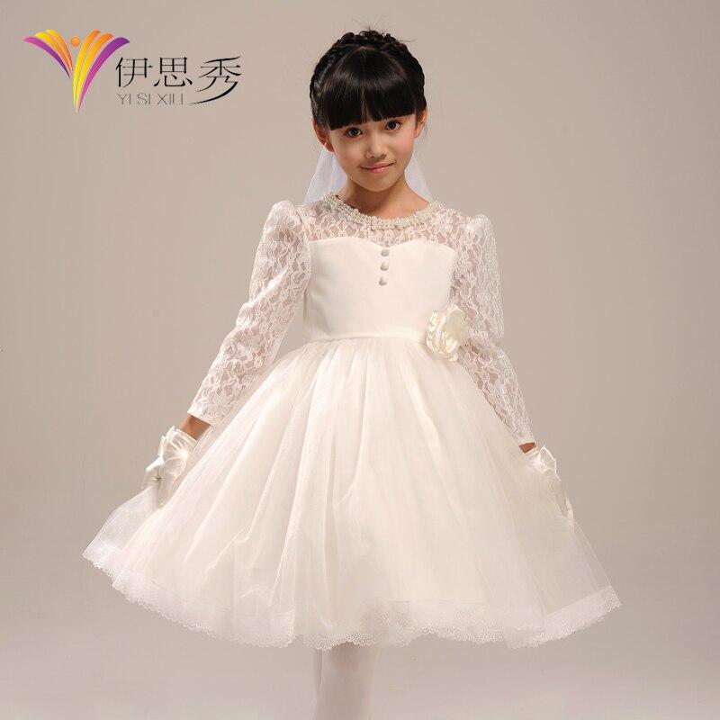 Flower girl dress Formal dress child autumn and winter princess ...