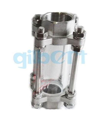 """1 """"Dipoter en verre de vue d'écoulement de l'acier inoxydable SS304 femelle de BSPT 85 PSI"""