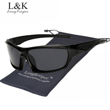 Long Keeper Mens Sunglasses Polarized Square Mirror Unisex Glasses 2018 New Hot Sale HD Lens Eyewears Male Driving Accessories