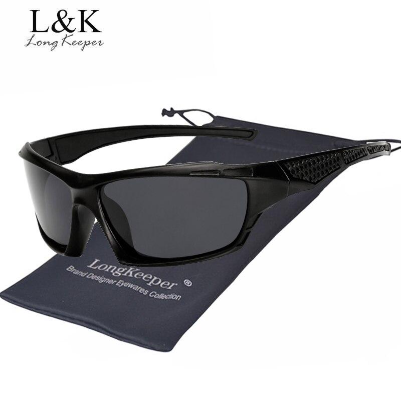 Long Keeper Mens Sunglasses Polarized Square Mirror Unisex