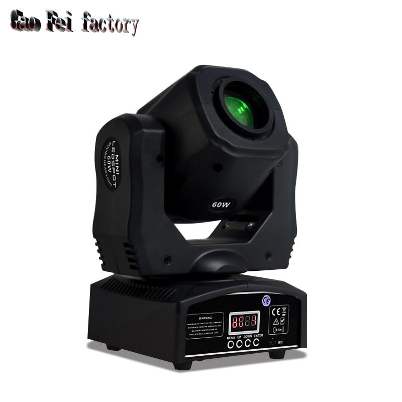 60 Вт Мини светодиодный DMX gobo Moving Head Точечный светильник клубный DJ сценический светильник ing вечерние диско движущиеся головки светильник