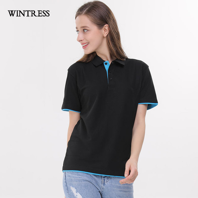 23ba7db6af5a WINTRESS Can Custom Pattern Women Polo Shirt Short Sleeve Turn-Down Collar  Tee Summer Work Clothes Femme