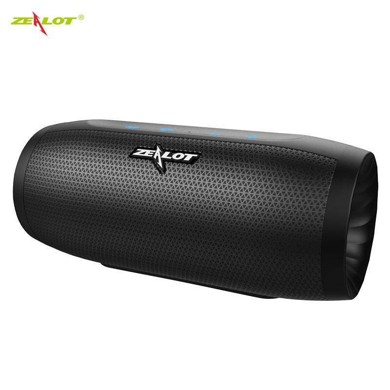 Zélot S16 nouveau haut-parleur stéréo Bluetooth 3D haut-parleurs de caisson de basses portables sans fil avec fente pour carte TF Microphone AUX