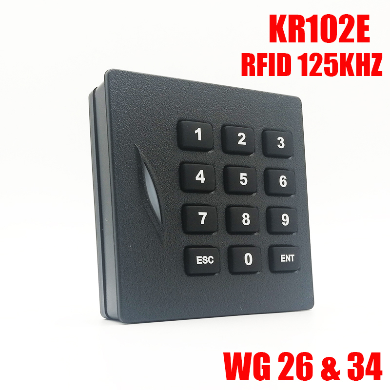 High Quality KR102E Rfid Keypad Card Reader Access Control Card Reader Waterproof 125Khz ID Card Wiegand 26 Reader