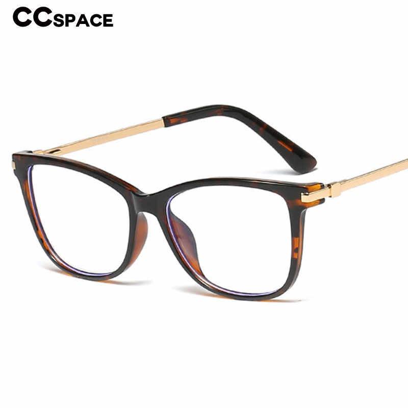 45815 TR90 Retro Square Mata Kucing Kacamata Frame Pria Wanita Optik Fashion Kacamata Komputer