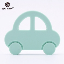 Let's Make Cartoon Car Baby Toys Food Grade Silicone Teether