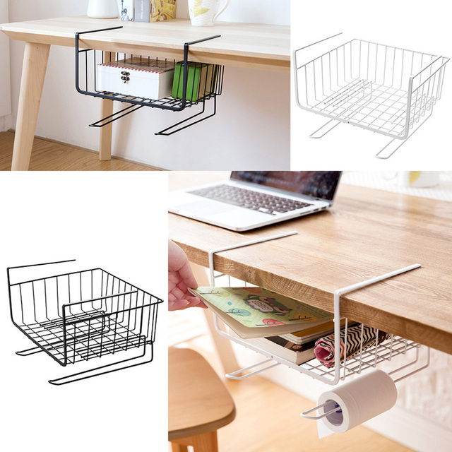 1 Piece Stainless Steel Shelf Organizer Holder Rack Shelves Kitchen Hanging  Storage Basket