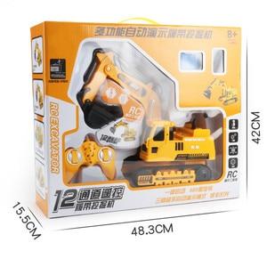 Image 5 - 2,4 ГГц 12CH 1:18 Радиоуправляемый автомобиль Дрифт экскаватор из сплава для детей и взрослых игрушечный автомобиль с дистанционным управлением