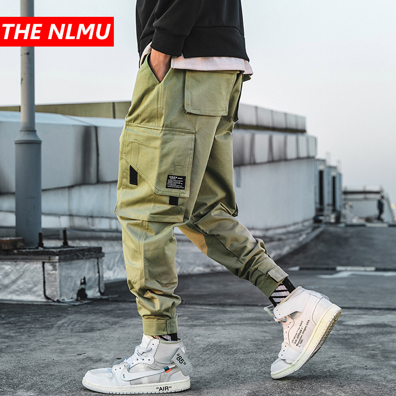 Hip Hop Joggers Pants Men Casual Multi-pocke Cargo Pants Mens Streetwear Sweatpants Trousers Harajuku 2019 Clothing WG300