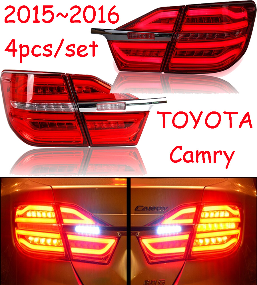 car-styling,Camry Taillight,2015~2017,led,Free ship!4pcs/set,Camry fog light;car-covers,Chrome,Camry tail lamp car styling golf6 taillight 2011 2013 led free ship 4pcs golf6 fog light car covers golf7 tail lamp touareg gol golf 6