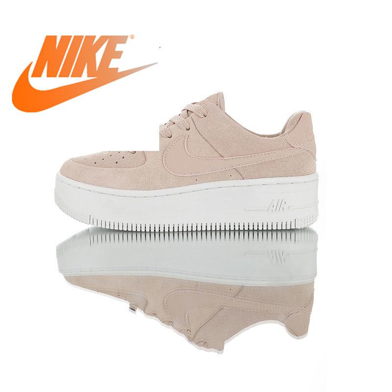 Original Authentic Nike WMNS Air Force 1 Sage Low Women's Skate Shoes Outdoor Sports Shoes Designer Comfortable Wearable AR5339