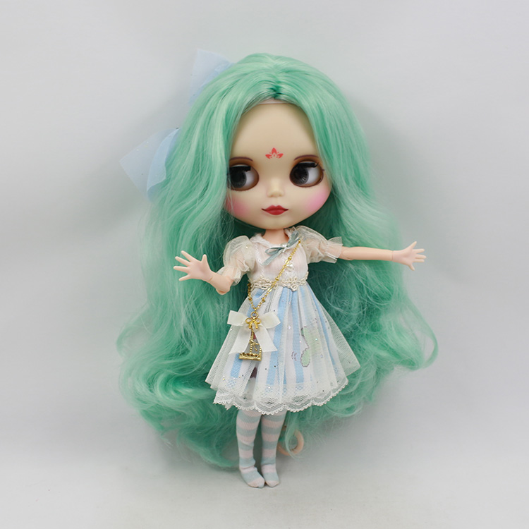 30cm fashion doll Blyth nude doll diy joint body light green long wig cute dolls bonecos colecionaveis toys for children girls bjd doll 1 6 boneca negra blyth doll with joint body bonecos colecionaveis blyth nude doll baby dolls for girls