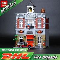 LEPIN 2313Pcs 15004 City Street Creator Fire Brigade Model Building Kits Minifigure Blocks Bricks Compatible LEGOe
