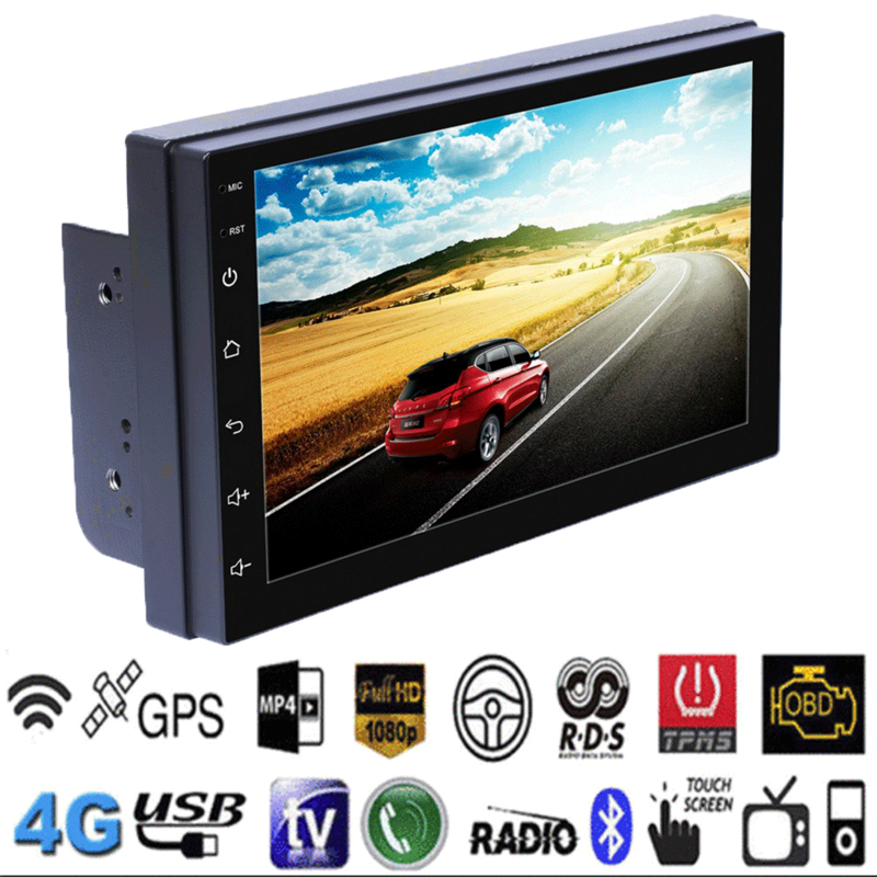 Android 8 1 WiFi 2Din 7in Quad Core GPS Navi Car Stereo MP5 Player AM FM