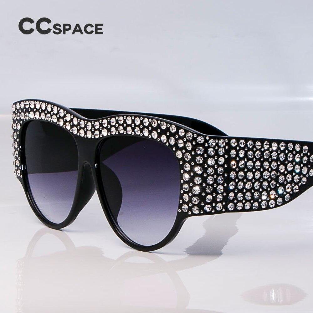 CCSPACE Surdimensionné Strass Cadre Carré lunettes de Soleil Pour Femmes  Diamant Brillant Marque Lunettes Designer De Mode Femme Shades 45482 dans  Lunettes ... 9317eb9c645c