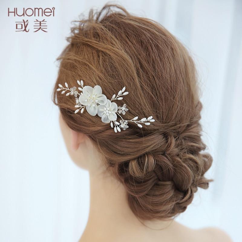 White Flower For Hair Wedding: Fashion New Bridal Hair Combs White Flower Hair Jewelry