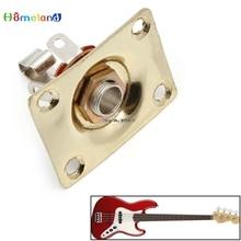 Chrome Gold Electronic Guitar Output Rectangle Plate For Guitar Jun30_15