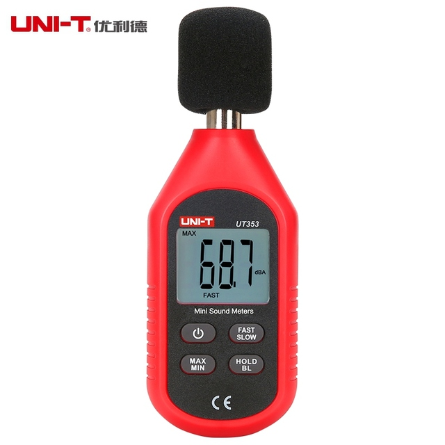 Mini Sound Lever Meter Decibel MonitorUNI-T UT353 Noise Measuring Instrument DB Meter 30~130dB