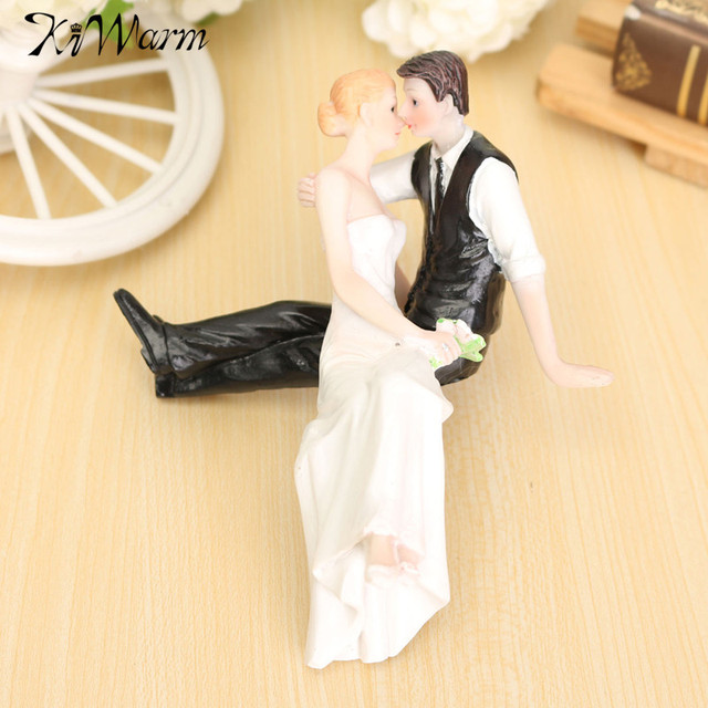 Kiwarm 1Pcs Romantic Resin Wedding Cake Topper Bride Groom Couple ...