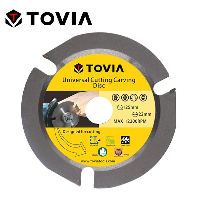 TOVIA 125mm Универсальный Пильный Диск по Дереву для УШМ 5inch 22.2mm по Газобетону Гипсокартону Пластику лезвия лезвие алмазный диск пилы для распил...