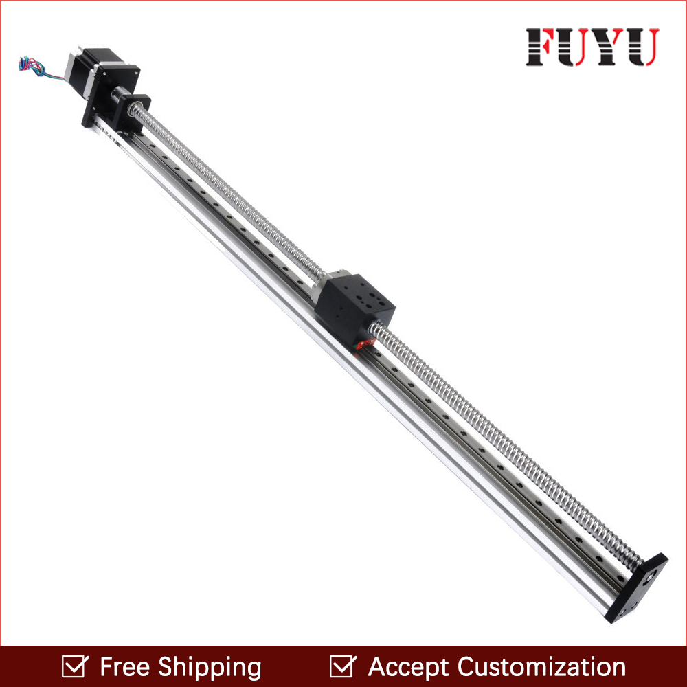 Free Shipping Right price 600mm movement length motorized linear slide for cnc free shipping 900mm travel aluminium motorized linear slide for cnc machine