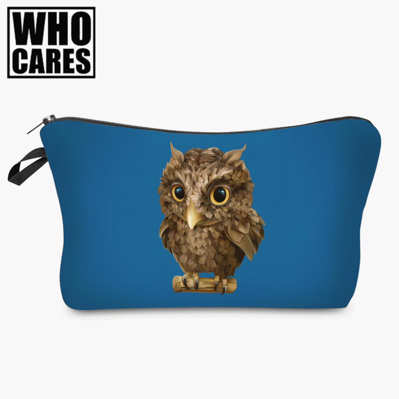 все цены на Toucan pink 3D printing Cosmetic Bag women 2017 Fashion New makeup bag cosmetic cares trousse de maquillage neceser онлайн