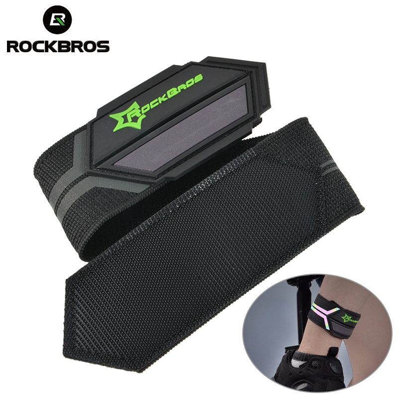 ROCKBROS Cycling Bicycle Pants Hand Clip Reflective Belt Sports Safety Running Bike Spirituality Light Belt Riding Ankle Support