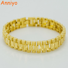 Anniyo 1.3CM 21CM / Men Bracelet  Gold Color Jewelry Wide Bangle Women,Wedding Africa,Arab,Middle Eastern #003207