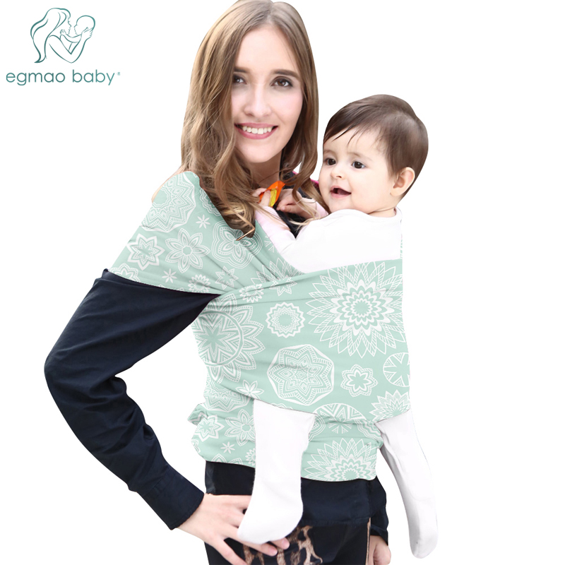 Baby Wrap Carrier Printed Baby Sling Carrier For Newborn & Infant Soft Breathable Wrap Hands Free Baby Carrier Baby Shower Gifts