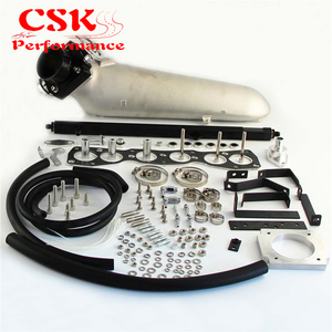 Image 3 - 흡기 매니 폴드 + vq35 80mm 스로틀 바디 + toyota supra 2 용 연료 레일 jzgte jza80 93 98