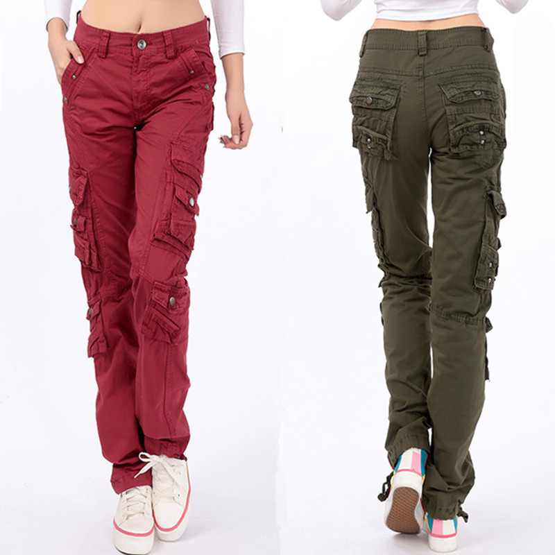 buy winter women men army combat multi pocket baggy trousers ladies girls. Black Bedroom Furniture Sets. Home Design Ideas