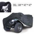 Universal Quad Bike ATV Cover Parts Motorcycle Vehicle Car Covers Dustproof Waterproof Resistant Dustproof Anti-UV Size 3XL