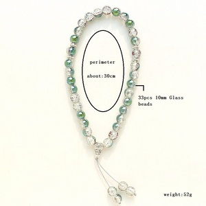 Image 2 - New 10mm Glass Bead 33 Prayer Beads Islamic Muslim Tasbih Allah Mohammed Rosary for women men