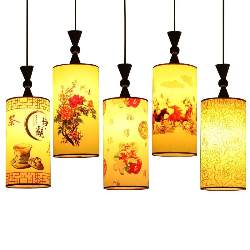 Vintage classic led pendant lights with fabric shade, e27 socket , retro China/ Japan style pendant lamp lighting for restaurant