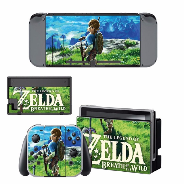 Nintend Switch Vinyl Skins Sticker For Nintendo Switch Console and Controller Skin Set - For The Legend of Zelda 4