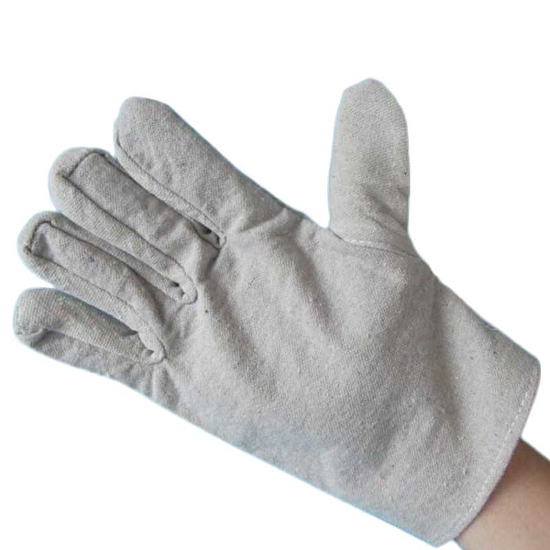 6 Pairs Canvas Work Gloves Labor Safty Gloves Double Thickening Anti-Skid Protection Welding high temperature Gloves  LB