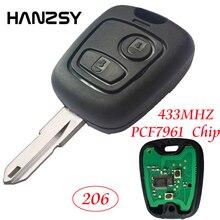 2 кнопки дистанционного ключа оболочки Fob для PEUGEOT 206 433 МГц Автомобильный ключ крышка без логотипа с PCF7961 транспондер чип/NE73 лезвие