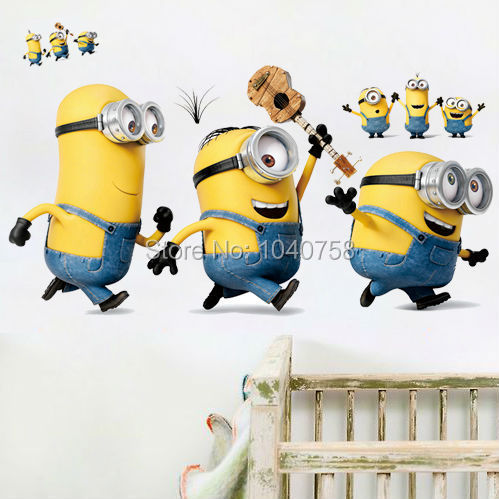 Online Buy Wholesale Minions Wall Decals From China Minions Wall - Minion wall decals