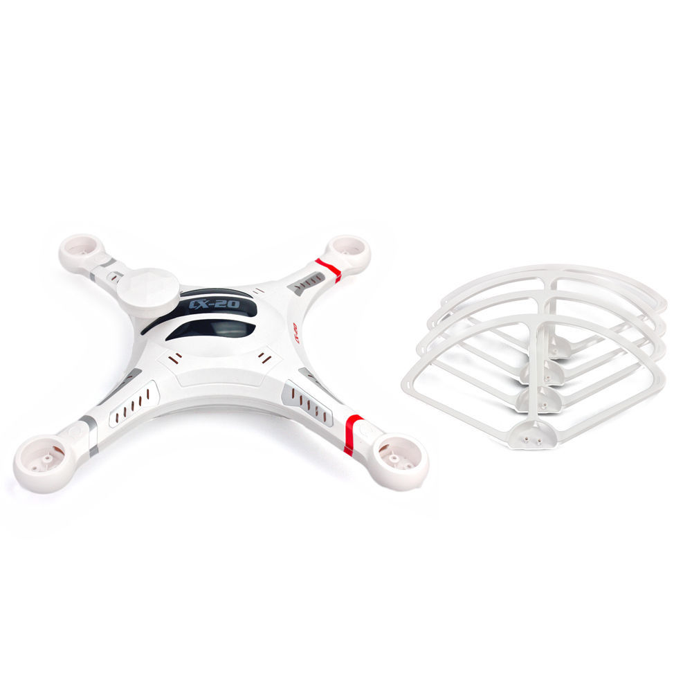 ФОТО CX-20-020 Body Shell Cover+Prop Fender Bracket Propeller Protection Frame For Cheerson  Quadcopter F09179-B