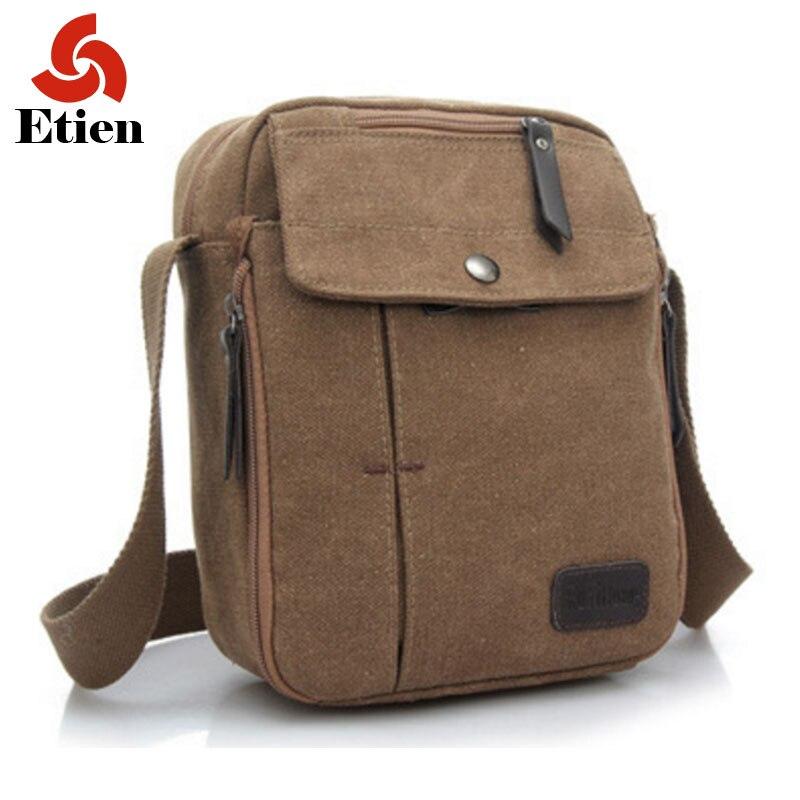 ФОТО New 2016 Men's shoulder bag fashion high quality solid soft canvas casual shoulder messenger handbags leisure  bag
